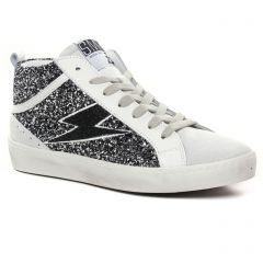 Chaussures femme hiver 2021 - baskets mode Semerdjian SMR23 noir blanc