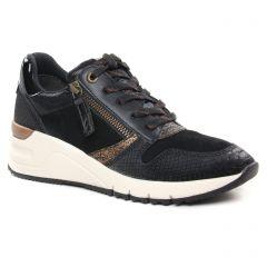 Chaussures femme hiver 2021 - baskets mode tamaris noir bronze