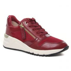 Chaussures femme hiver 2021 - baskets mode tamaris rouge