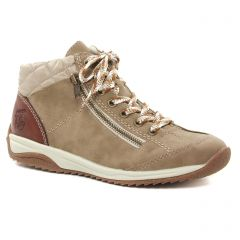 Chaussures femme hiver 2021 - baskets mode rieker taupe