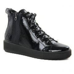 Chaussures femme hiver 2021 - baskets mode Remonte vernis noir