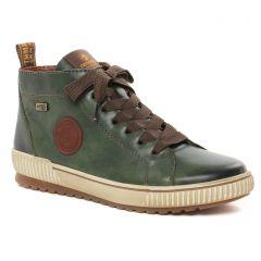 Chaussures femme hiver 2021 - baskets mode Remonte vert