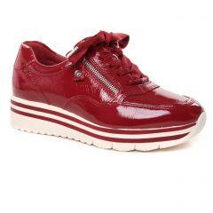 baskets-plateforme vernis rouge: même style de chaussures en ligne pour femmes que les Vanessa Wu