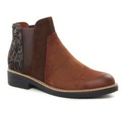 Chaussures femme hiver 2021 - boots élastiquées fugitive marron