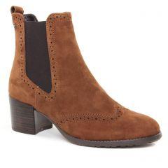 boots-chelsea marron: même style de chaussures en ligne pour femmes que les Tamaris