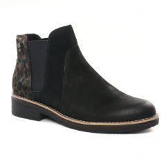 Chaussures femme hiver 2021 - boots élastiquées fugitive noir