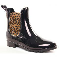 boots-chelsea noir leopard: même style de chaussures en ligne pour femmes que les Les Tropéziennes