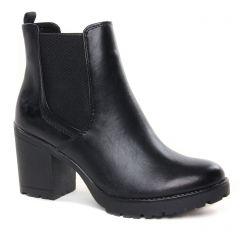 Chaussures femme hiver 2021 - boots élastiquées marco tozzi noir