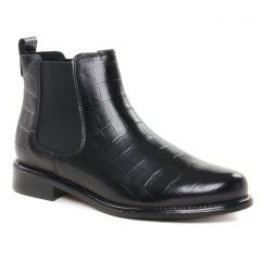 Chaussures femme hiver 2021 - boots élastiquées Scarlatine noir croco