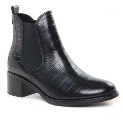 boots-chelsea noir croco: même style de chaussures en ligne pour femmes que les Scarlatine