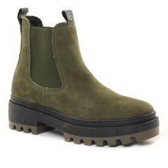boots-chelsea vert kaki: même style de chaussures en ligne pour femmes que les Tamaris