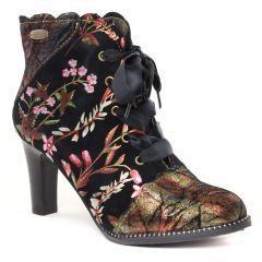 Chaussures femme hiver 2021 - boots Laura Vita noir multi