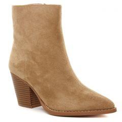 Chaussures femme hiver 2021 - boots talon Vanessa Wu beige