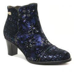 Chaussures femme hiver 2021 - boots talon Laura Vita noir bleu