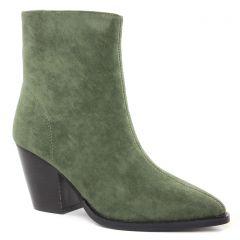 Chaussures femme hiver 2021 - boots talon Vanessa Wu vert