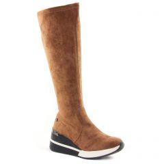 Chaussures femme hiver 2021 - bottes stretch Xti marron