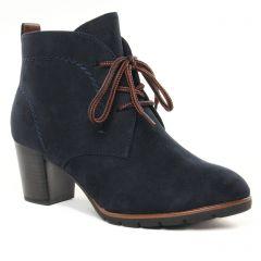 Chaussures femme hiver 2021 - bottines à lacets marco tozzi bleu marine