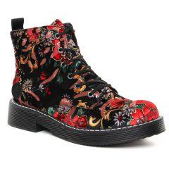 bottines-a-lacets noir multi: même style de chaussures en ligne pour femmes que les Rieker
