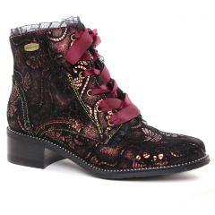 bottines-a-lacets noir rose: même style de chaussures en ligne pour femmes que les Rieker
