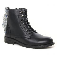 Chaussures femme hiver 2021 - bottines à lacets scarlatine noir