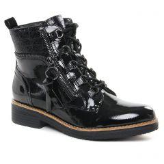Chaussures femme hiver 2021 - bottines à lacets fugitive vernis noir