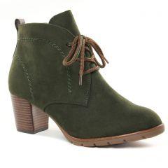 bottines-a-lacets vert olive: même style de chaussures en ligne pour femmes que les Marco Tozzi