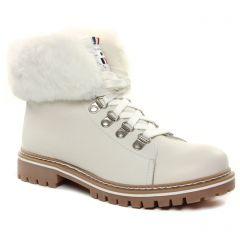 bottines-a-lacets blanc cassé: même style de chaussures en ligne pour femmes que les Les Tropéziennes