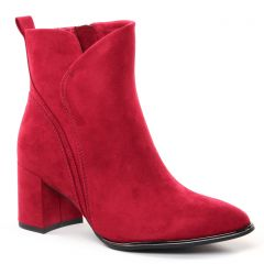 Chaussures femme hiver 2021 - bottines marco tozzi rouge