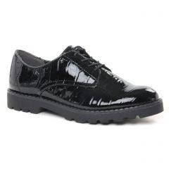 Chaussures femme hiver 2021 - derbys tamaris noir vernis