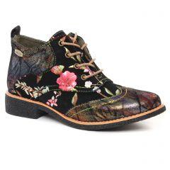 Chaussures femme hiver 2021 - bottines à lacets Laura Vita noir multi