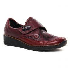 mocassins-confort bordeaux: même style de chaussures en ligne pour femmes que les Rieker