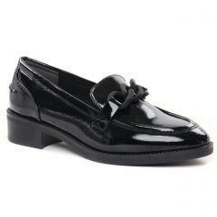 Chaussures femme hiver 2021 - mocassins confort tamaris noir vernis