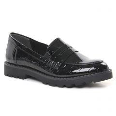 mocassins noir croco: même style de chaussures en ligne pour femmes que les Tamaris