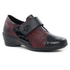 Chaussures femme hiver 2021 - mocassins trotteurs rieker bordeaux