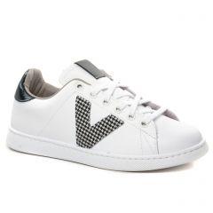 Chaussures femme hiver 2021 - tennis Victoria blanc noir
