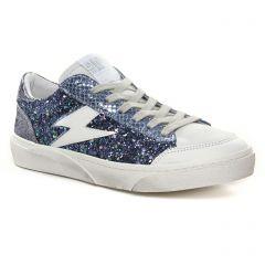 Chaussures femme hiver 2021 - tennis Semerdjian SMR23 bleu metal