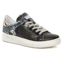 Chaussures femme hiver 2021 - Tennis plateforme Semerdjian SMR23 noir multi