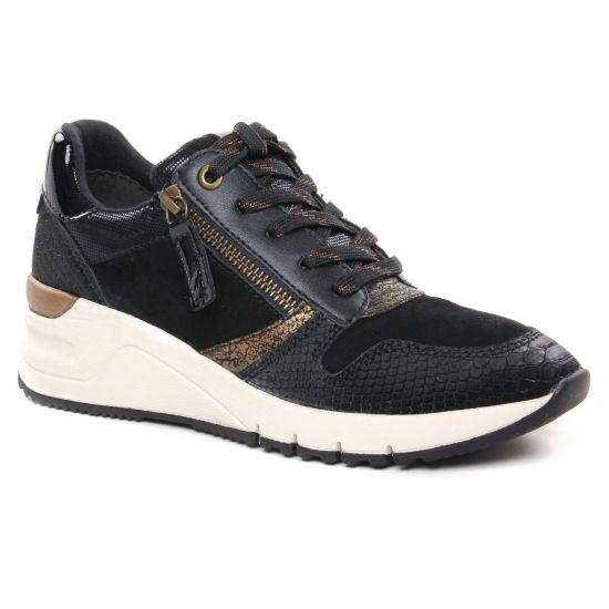 Tennis Et Baskets Mode Tamaris 23702 Black Bronce, vue principale de la chaussure femme