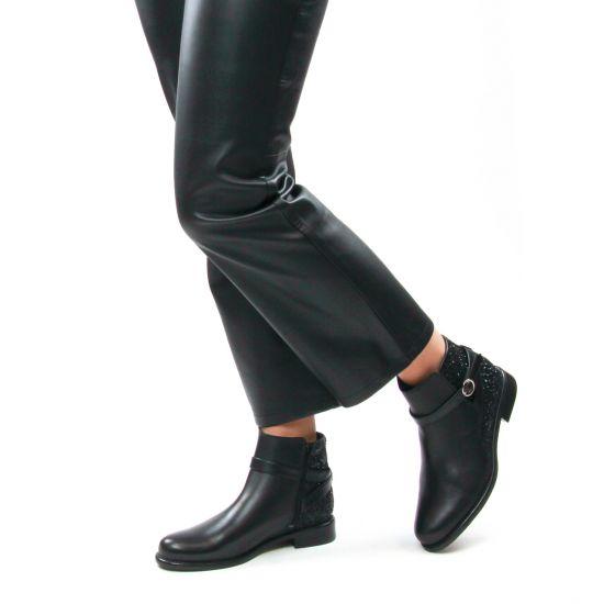 Chaussures femme hiver 2021 - boots Jodhpur Scarlatine noir paillettes