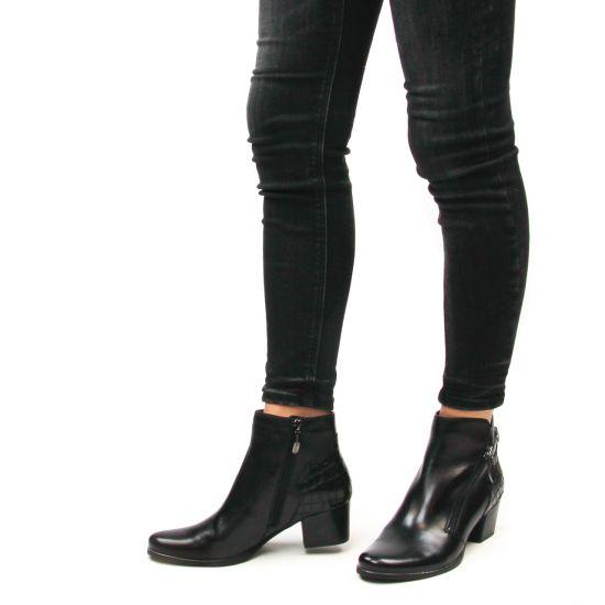 Chaussures femme hiver 2021 - boots talon Regarde le ciel noir crocro