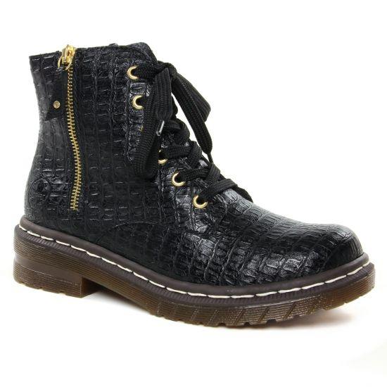 Bottines Et Boots Rieker 76224-00 Schwarz, vue principale de la chaussure femme
