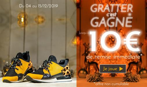 Jeu de grattage : gagnez des remises sur vos chaussures d'hiver 2019