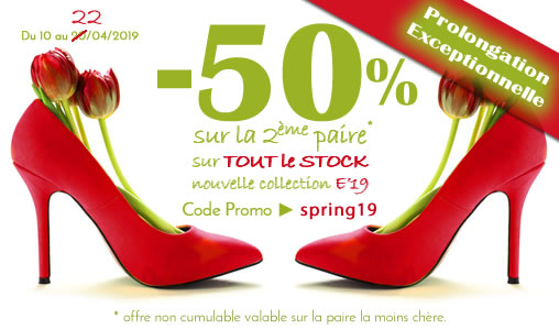 code promo chaussures femme collection 2019