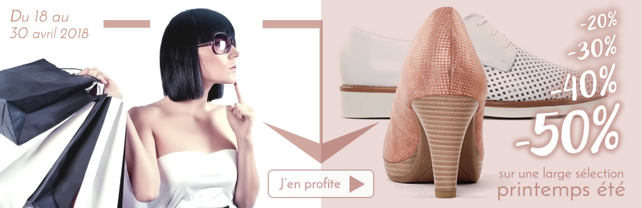 chaussures en promo femme fin de série