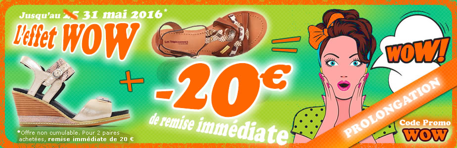 chaussures promotion wow