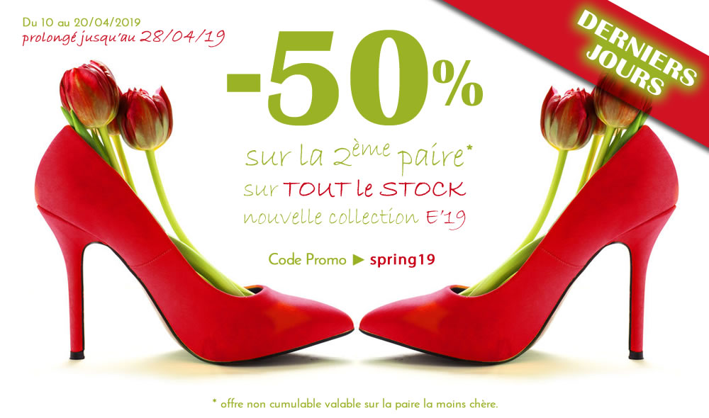code promo chaussures femme 2019