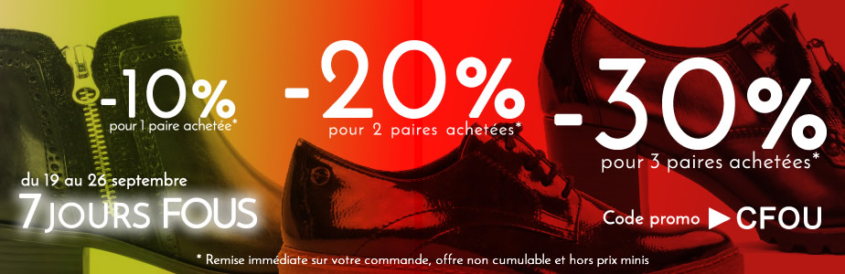 promotion chaussures rentree 2018