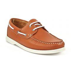 Chaussures homme été 2014 - bateaux Yann Bolligen marron orange