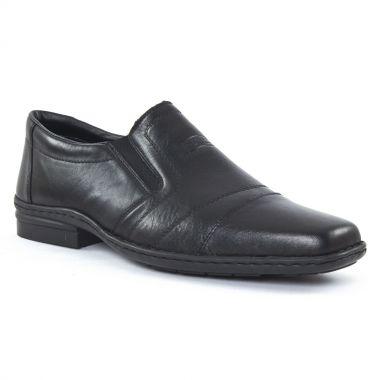 Mocassins Et Bateaux Rieker 19864 Noir, vue principale de la chaussure homme