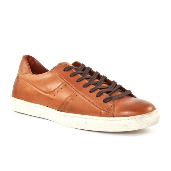 Chaussures Basses À Lacets Greenstone berto Tan, vue principale de la chaussure homme